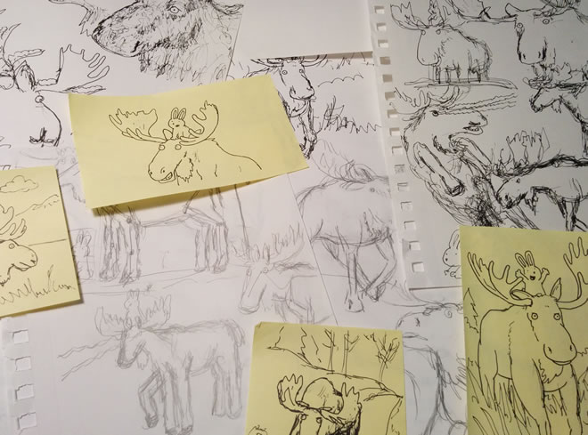 Moose Sketches