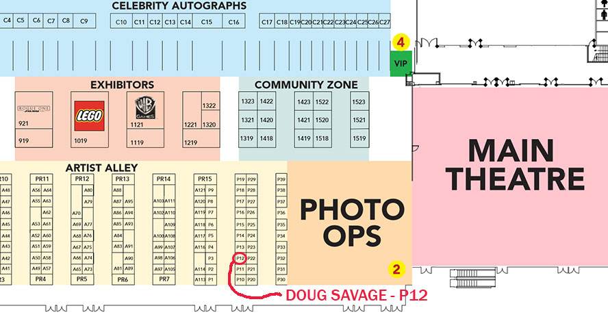Vancouver Fan Expo 2016 Map - Doug Savage