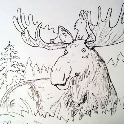 Early Moose Sketch