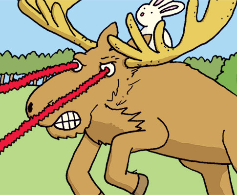 Laser Moose and Rabbit Boy in stores today!