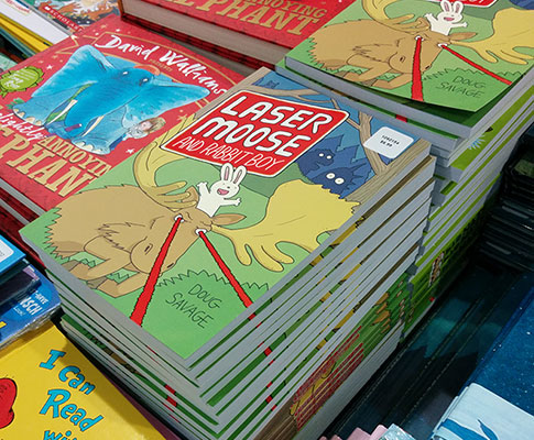 Laser Moose and Rabbit Boy now on its second printing