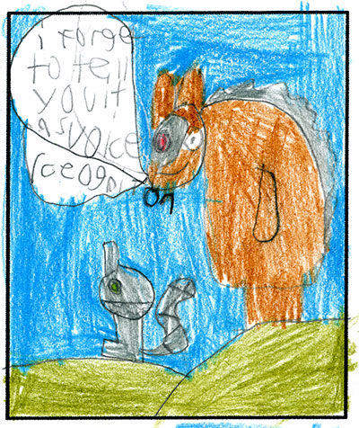 """""""I forgot to tell you it has voice recognition"""" It's Mechasquirrel and Cyborgupine!"""