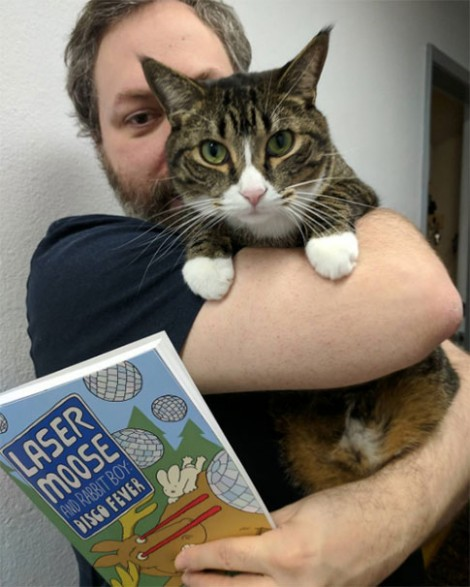 I tried to get Watson to endorse the new book. He gave it 4 out of 5 grumpy meows.