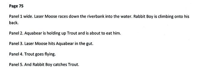 Time Trout page 75 script