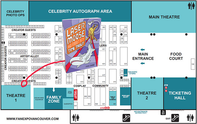 Vancouver Fan Expo Map 2020